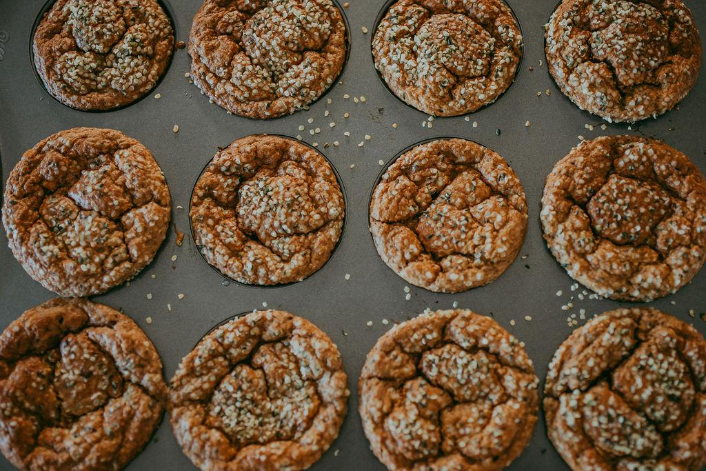 Hemp hearts muffins