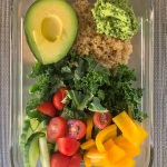 Quinoa and kale power lunch bowl in a bowl!